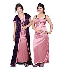 bailey women u0027s satin night dress pack of 2 comparemart