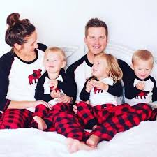 moose plaid family pajama set trendsetter