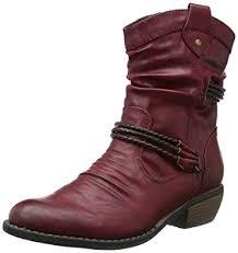 rieker s boots uk rieker 92988 35 s cowboy boots burgundy 3 5 uk 36
