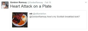 send food are sending gordon ramsay their food pictures as usual