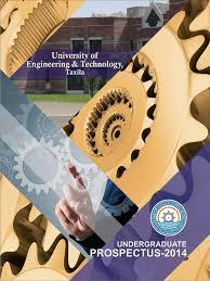 ug prospectus 2014 uet taxila postgraduate education engineering