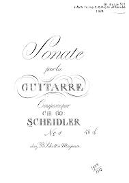 sonata no 1 scheidler christian gottlieb imslp petrucci music