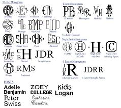 monogrammed fonts silk bag the monogrammed home