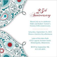 twenty fifth anniversary 25th anniversary invitation orderecigsjuice info