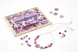 amazon com melissa u0026 doug deluxe collection wooden bead set with