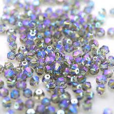 3mm diamond swarovski 5328 xilion bead 3mm black diamond 215 shimmer2 bicone