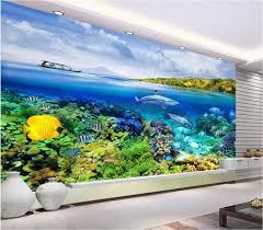 Shark Home Decor Online Get Cheap 3d Wallpaper Shark Ocean Aliexpress Com