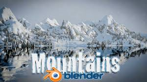 tutorial blender terrain blender tutorial create snowy mountain landscape blender cycles