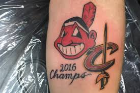 teenage indians fan gets u00272016 champs u0027 tattoo hours before game 7