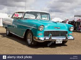 1955 chevrolet bel air 2 door hardtop sedan in two tone turquoise