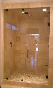bathroom glass shower door design idea with brown ideas gold