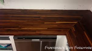 fisherman s wife furniture diy butcher block countertops although the countertop will be dry it is not be fully cured and can not handle everyday use yet be patient