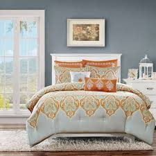 Orange And White Comforter Bedroom Wonderful Dorm Comforter Sets Grey And White Bedding