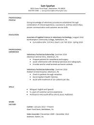 Resume For Veterinarian Sample Resume Vet Tech Major Resume U0026 Cover Letter Pinterest