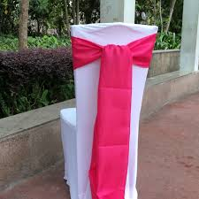 satin chair sashes 100 pcs hot pink 6 x108 chair bands satin chair sashes bow