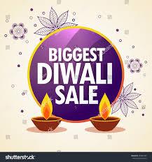 diwali sale promotional banner flower decoration stock vector