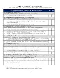 evaluation sow review checklist project starter usaid newct