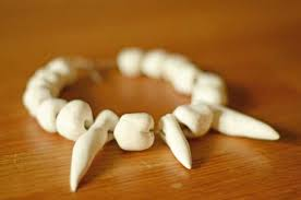 make a stone age necklace time traveller kids