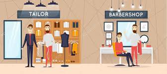 Latest Barber Shop Interior Design Barbershop Interior Stylish Hair Salon U2014 Stock Vector Odis