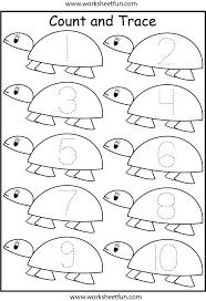 number tracing worksheets for kindergarten1 10 crafts and