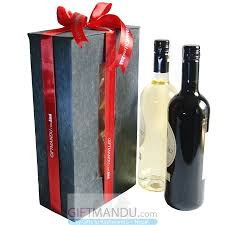wine bottle gift box beautifully wrapped wine box with staff sweet white and white
