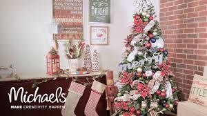 christmas tree decor time lapse michaels youtube