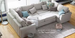 leather and microfiber sectional sofa cozy sectional sofas home design ideas and inspiration