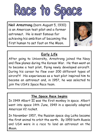 neil armstrong reading comprehension and questions by nickybo