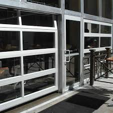Glass Overhead Garage Doors Aluminum View Glass Garage Doors On Restaurant Commercial