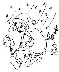 santa coloring pages for christmas free printable holidays
