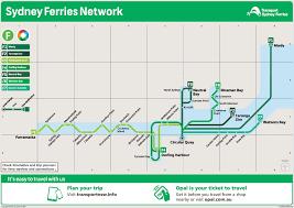 Sydney Map Sydney Ferry Map
