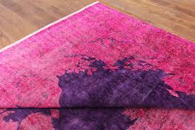 purple and pink area rugs unique pink purple overdyed 9 u0027x14 u0027 hand knotted oriental wool area