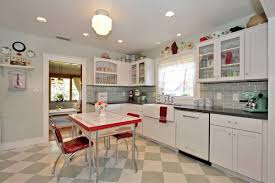 in this vintage kitchen down to the old wood island the vintage with retro kitchen