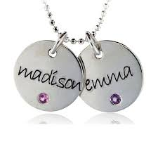 name charms discs necklaces from baby name charms