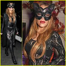 Asylum Halloween Costumes Lindsay Lohan Cat Asylum Halloween Party 2015