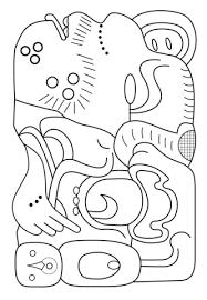 imagenes mayas para imprimir dibujo de jeroglífico maya para colorear dibujos para colorear