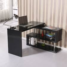 Desk Shelf Combo by Homcom Rotating Office Desk And Shelf Combo U2013 Black Desks Home
