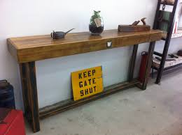 industrial style hall table console recycled lane
