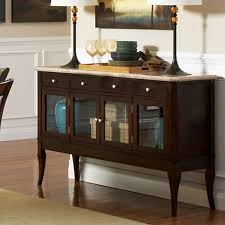 Marble Top Sideboards And Buffets Steve Silver Company Marseille Marble Top Sideboard In Dark Cherry