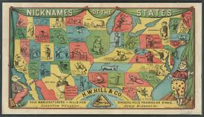 World Map According To America by A Nickname Map Of The American States From 1884