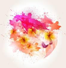 splash color flower backgrounds vector free vector in adobe