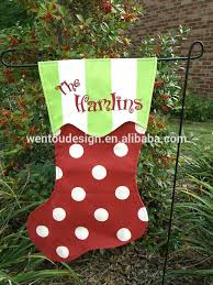 Christmas Decorations To Personalise Wholesale christmas stocking garden flag christmas stocking garden flag