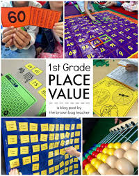 Math Decorations For Classroom Place Value 1st Grade Centers The Brown Bag Teacher