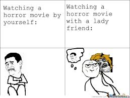 Horror Movie Memes - watching a horror movie by andhy1001 meme center