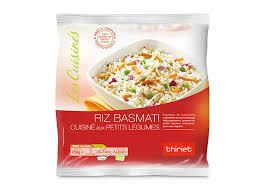 riz cuisiné riz basmati cuisiné aux petits légumes surgelé gamme poissons