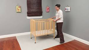 Mini Folding Crib Delta Children Folding Portable Crib With Mattress Walmart