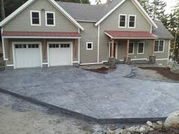 Textured Concrete Patio by Stamped Concrete For Central And Southern Maine