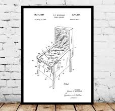 wall blueprints pinball machine patent pinball machine poster pinball machine