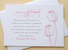 funeral thank you notes funeral thank you note card behreavement illustration zk