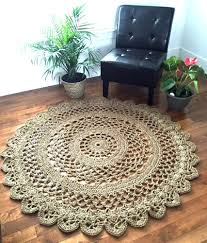 Outdoor Round Rugs by Giant Crochet Doily Rug Giant Jute Rug Large Jute Rug 4 10